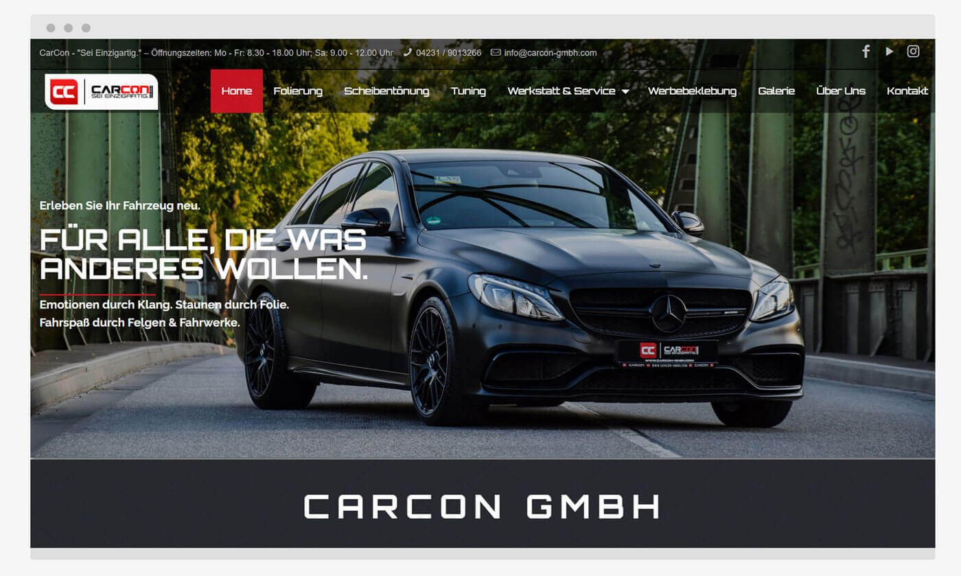 Launch der CarCon-Website