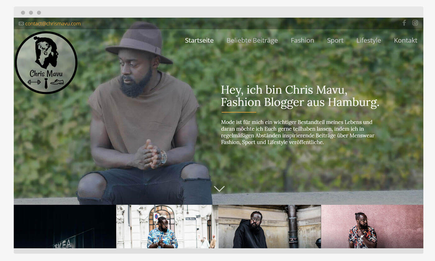 Neue Website ChrisMavu