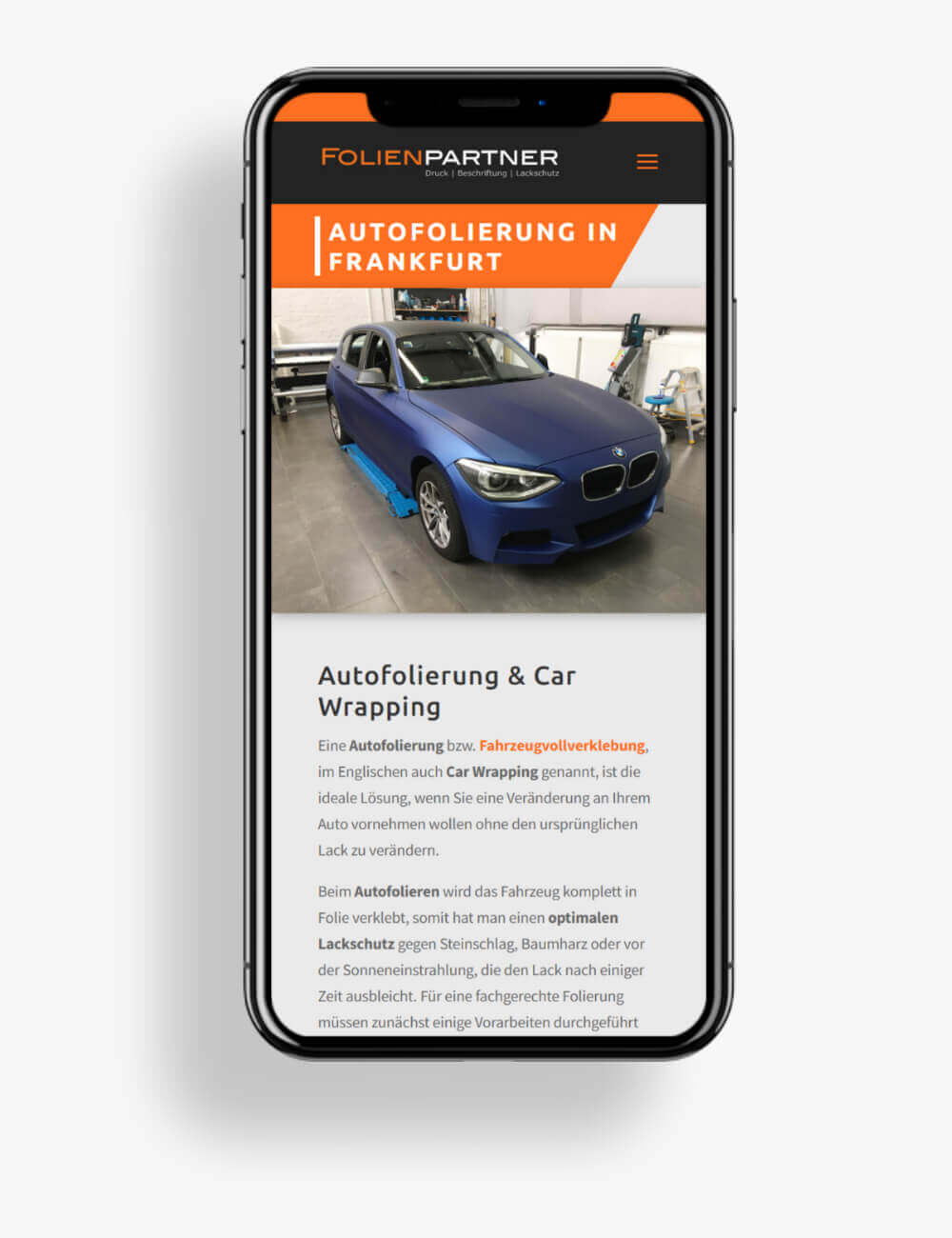 Anpassungen für Mobil-Version
