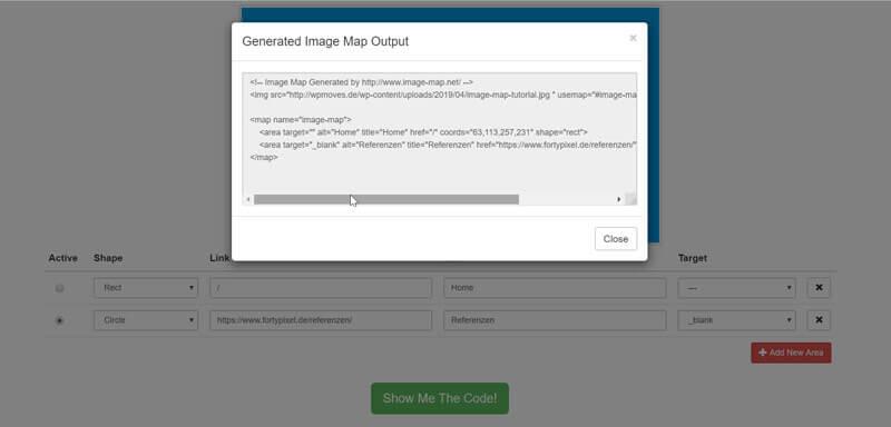 image-map-code-anzeigen